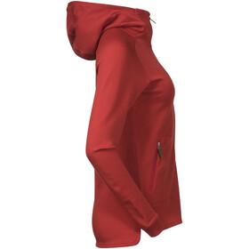 Bergans Tuva LT Hooded Wool Jacket Women red sand